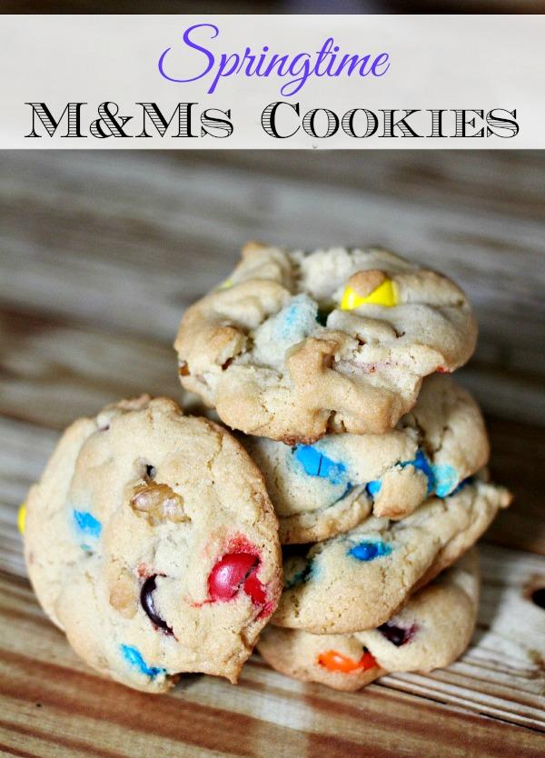 Springtime M&Ms cookies recipe 2