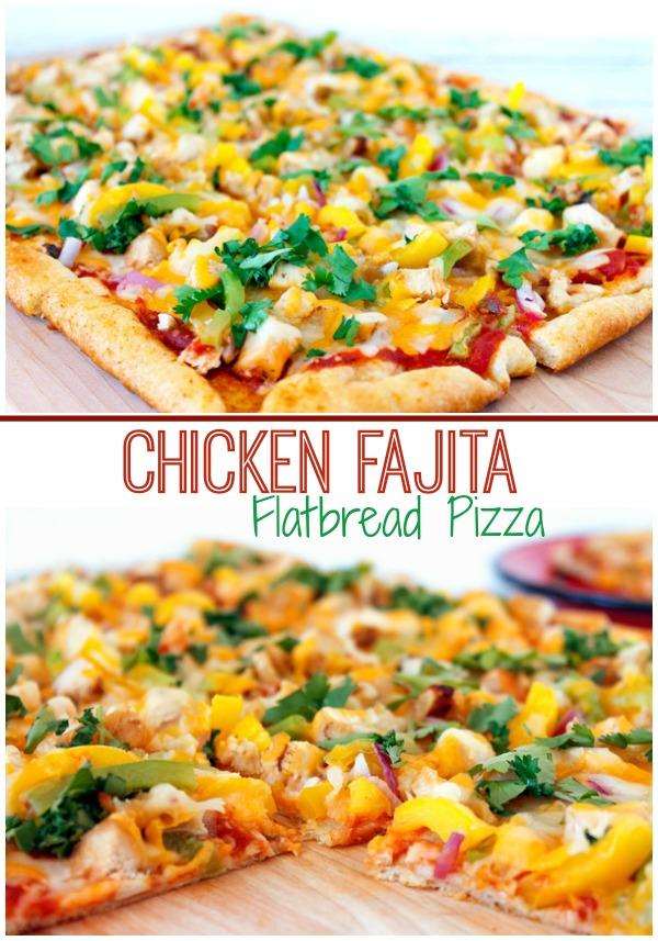 Chicken Fajita Flatbread Pizza | The Rebel Chick