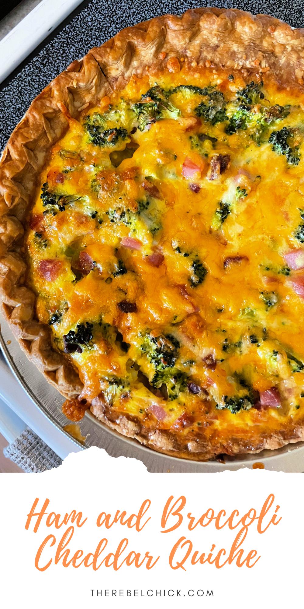 Ham and Broccoli Cheddar Quiche Recipe