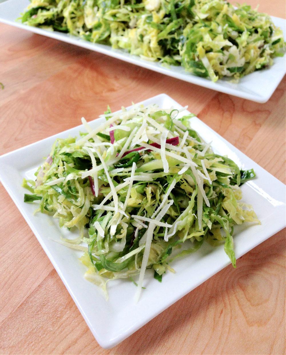 Shaved Brussels Spouts & Parmesan Salad Recipe
