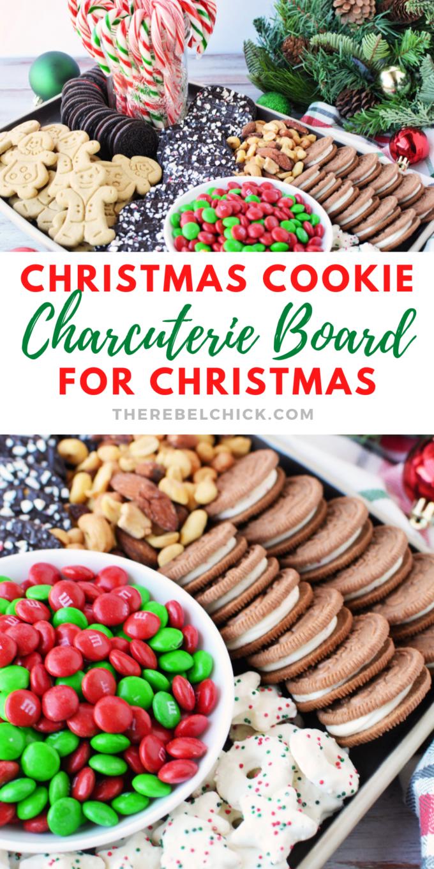 No Bake Christmas Cookie Charcuterie Board