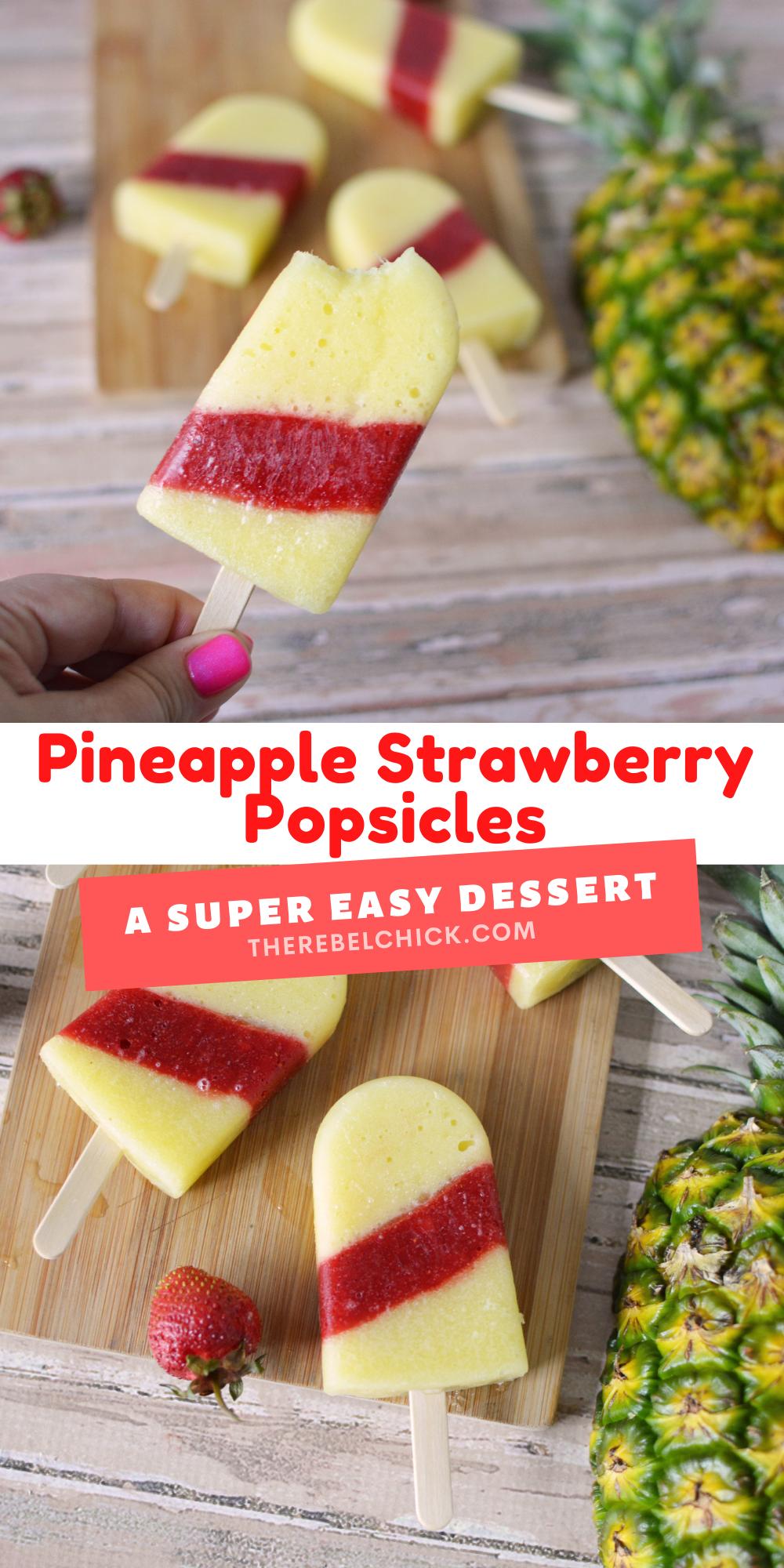 Pineapple Strawberry Popsicles Recipe